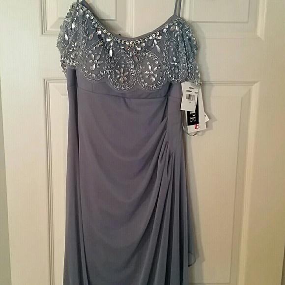 397c6635 Xscape Dresses   Petite Embellished Off The Shoulder Gown   Poshmark